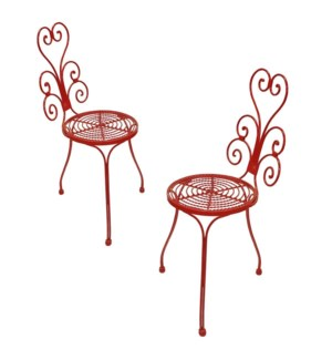 """Peacock Bistro Chairs S/2,disc"""