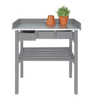 Garden work bench grey. Pinewo