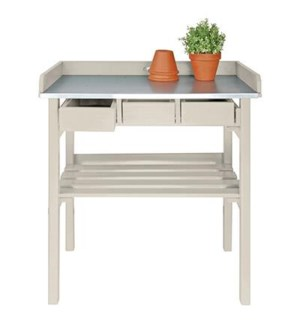 Garden work bench white. Pinew