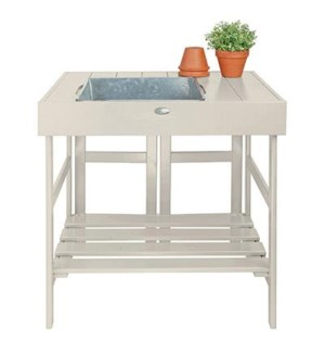 Potting table white. Pinewood