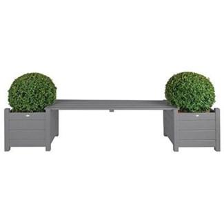 Planters with bridge bench grey. Pinewood. 188,0x40,0x40,2cm. oq/2,mc/1 Pg.125
