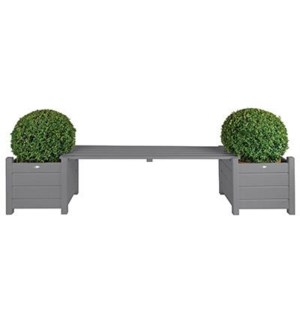 Planters with bridge bench gre