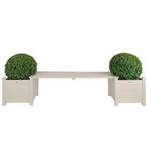 Planters with bridge bench whi