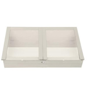 """Cold frame white. Pinewood, glass. 117,0x60,4x41,0cm. oq/2,mc/1 Pg.127"""