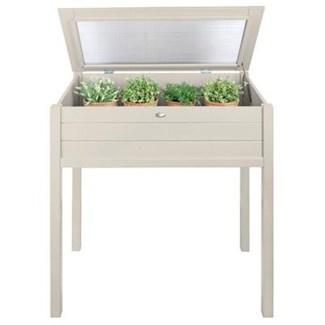 Tall cold frame white. Pinewood, glass. 90,0x50,5x101,0cm. oq/2,mc/1 Pg.127