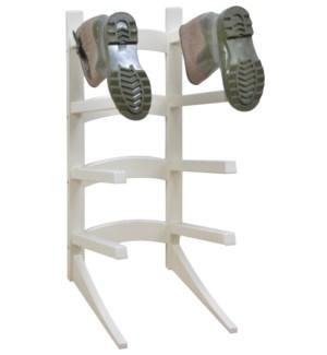 Standing boot rack white. Pine