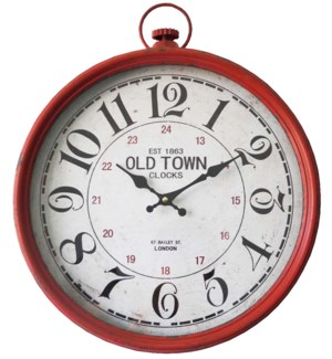 Red/White Wall Clock