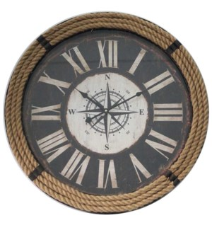 Rope Wall Clock 23.6Dx2.8inch