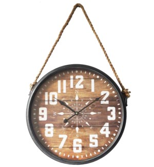 Hanging Wall Clock w Rope 17.32x2.75x28.7inch *Last Chance!*