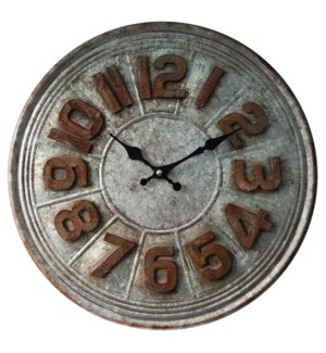 Colby Wall Clock Metal  15.8x1.6 *Last Chance!*