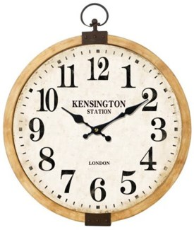 Kensington Station Clock, 17x12x17 Inches