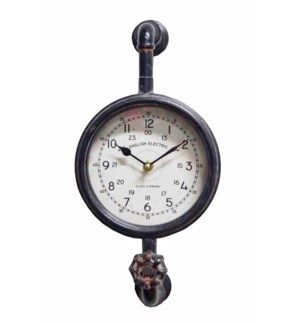 Industrial Piping Clock, 16.5x12x13 Inches