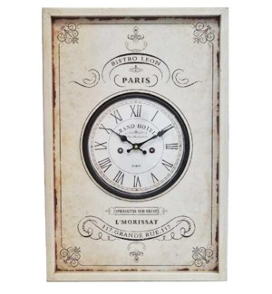 """Frame Parisian Clock, 24x9x17 Inches *On sale 30% off!"""