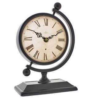 Globe Stand Roman Numeral Clock, 22.5x11.5x16 Inches  *On sale 50% off!