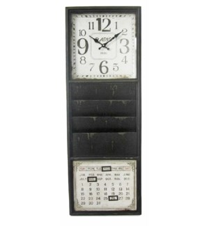 Wall Organizer Clock, 40x6x15 Inches