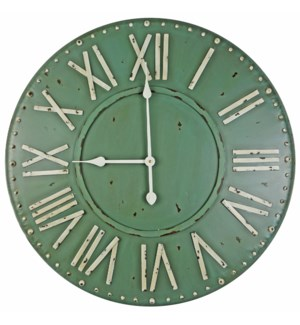 Roman Numeral Clock, Green 27 D *On sale 30% off!