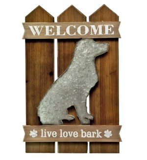Welcome Dog Wall Decor OS