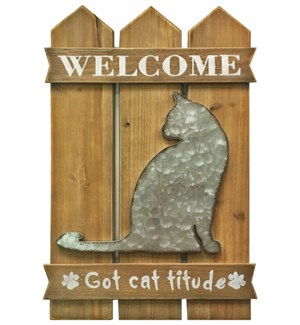 Welcome Cat Wall D?cor OS