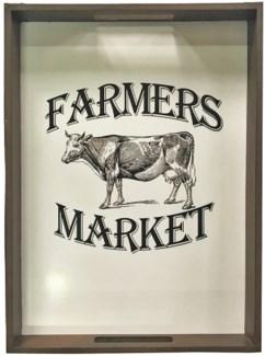 Farmers Market Framed Photo, 14x2.2x19