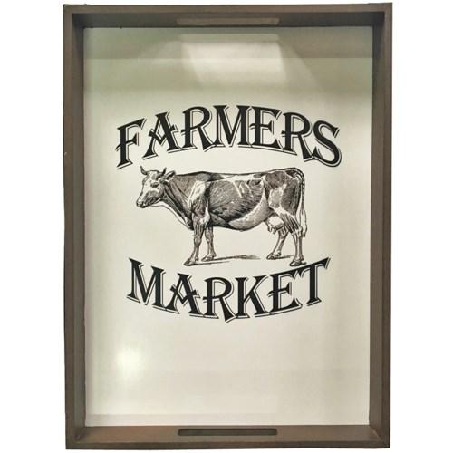 Farmers Market Framed Photo OS