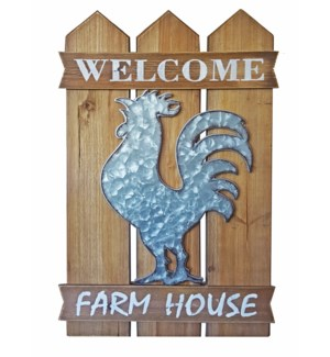 Welcome Rooster Wall Decor OS