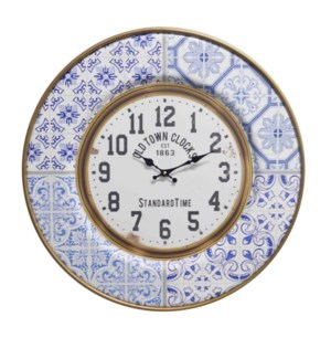 """Round wall clockm, blue"""