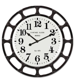 Industrical style wall clock
