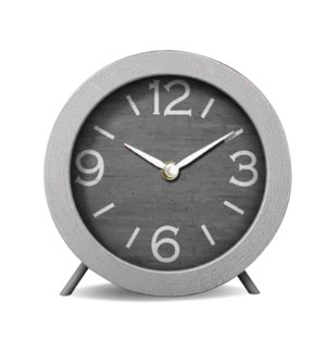 """Minimal table clock,grey, MDF Metal"""