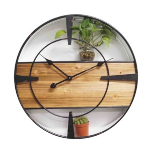 Shelving clock