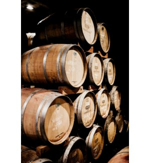 """""""Natural Oak Wine Barrel, 35-37.5 inches tall / 26-28 inches"""""""