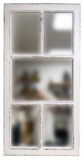 Multiframe Mirror Antique White, Fir wood,  26.5x1.5x49.5 inches