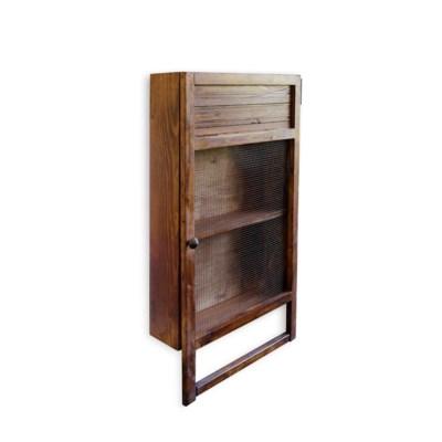 Kitchen Towel Rack Shelf Unit Organiser Dark Brown 32x6x17 5 Made