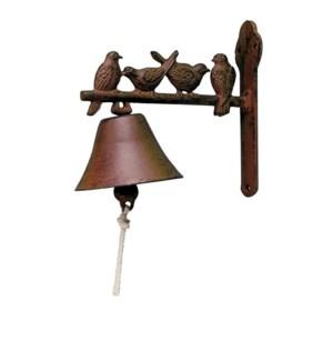 """Doorbell birds. Cast iron, cotton cord"""