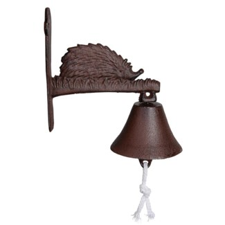 Doorbell hedgehog. Cast iron, cotton cord. 20,6x10,7x20,7cm. oq/12,mc/12 Pg.43