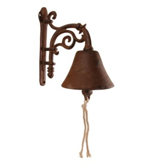 """Doorbell flower. Cast iron, cotton cord"""