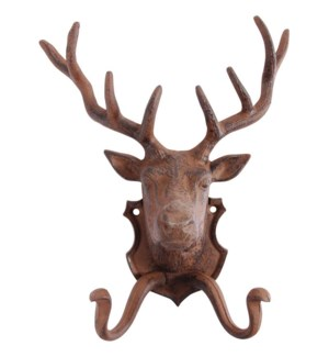 Wallhook deer. Cast iron. 22,0x9,9x27,6cm. oq/8,mc/8 Pg.42