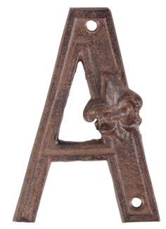 Houseletter A. Cast iron. 8,4x1,2x12,2cm. oq/10,mc/60 Pg.41