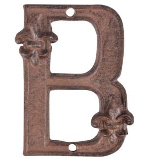 """Houseletter B. Cast iron. 9,5"""