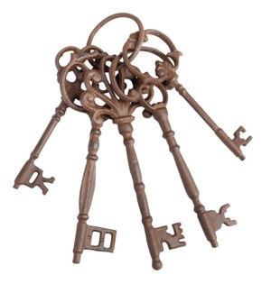 """""""Key ring L. Cast iron. 6,5x8,"""""""
