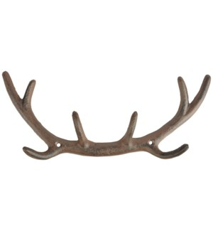Antler Hook S. Cast iron. 29,0x4,8x12,0cm. oq/6,mc/24 Pg.42