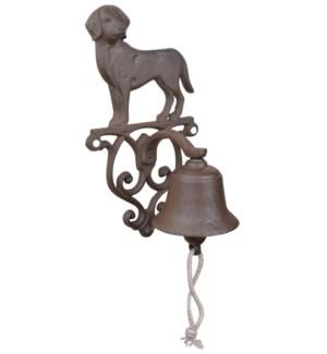"""Doorbell dog. Cast iron, cott"""