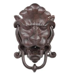 """""""Door knocker lion head, Cast iron - 5.3x3x8.4in."""""""