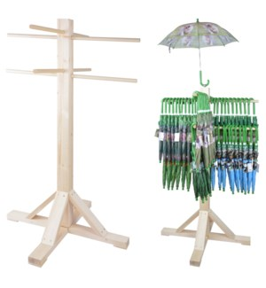 KG umbrella display wood Pinew