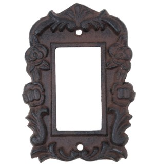 Tori Cast Iron Light Switch Cover, Single, Brown.3.8x5.4inch