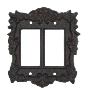 Tori Light Switch Cover Double Brown