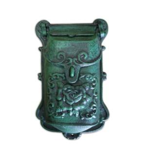 Nazlie Mailbox Green Cast Iron 6.8x2.8x11.4inch