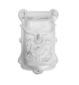 Nazlie Mailbox White Cast Iron 6.8x2.8x11.4inch.