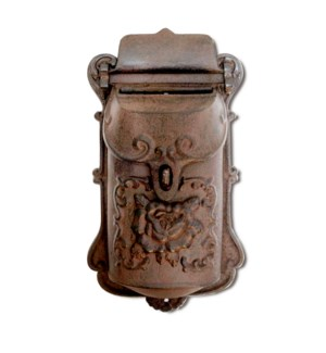 Nazlie Mailbox Brown Cast Iron