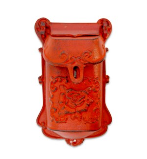Nazlie Mailbox Red Cast Iron