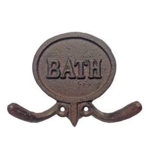 """BATH Double Hook, Brown"""